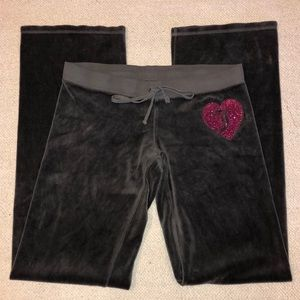 Juicy couture velour sweatpants size Tall small